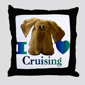 I Heart ( Love ) Cruising  Throw Pillow
